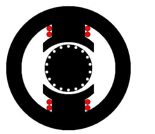 Circuit magnétique d'une machine à courant continu