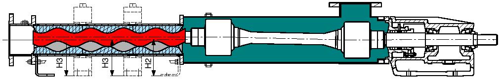schéma d'une pompe à rotor excentré